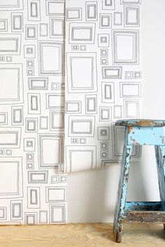 My kids have been begging me to decorate their room like a museum, they long to put each of their little treasures and art up for display, this would be an easy way to do it! Graham & Brown Frame Wallpaper