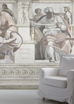 Fresco Wallpaper Mural - Lime Lace £55.95 #mural #Michelangelo #designerwallpaper #mineheart