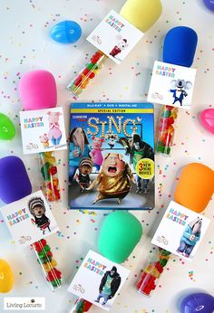 SING MOVIE Candy Microphone Party Favors are the perfect craft for a birthday, Easter baskets, or teacher gifts! Free printable download tags.