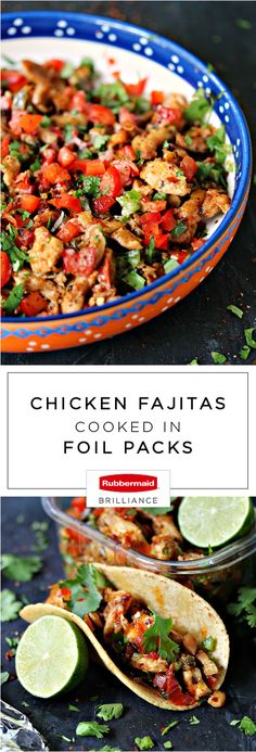 Not only will this recipe for Chicken Fajitas Cooked In Foil Packs make for one delicious dinner idea, thanks to Rubbermaid BRILLIANCE™ food storage containers found at Target, meal prepping this dish has never been easier. Starting with a quick citrus marinade, this flavorful combination is great for rice bowls, taco Tuesdays, and so much more. Your family is sure to agree that this recipe is worth making leftovers of!