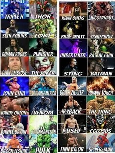 WWE Heores/Villains >> Noooo Finn should be Venom!!!  And Neville is SuperMan!!!!
