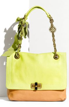 Lanvin 'Happy' Two Tone Flap Shoulder Bag: Looking at this bag makes me smile. Getting this bag would make me happy :)