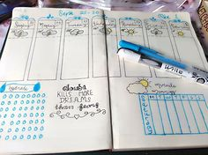 Weekly spread for this week  #bulletjournal #bujo #moderncalligraphy #october #blue #grey #planner #practice #planning #diy #papercraft #plannerdecorations #plannerdeco #plannerdecoration #plannerdecorating #planner #plannercommunity #planneraddicts #plannerlove #plannerobsessed #plannerlife  #planneraccessories #plannernerds #plannersupplies #happyplanner #lifeplanner #plannercuteness #plannergoodies #plannerjunkies #plannersociety #plannernewbie