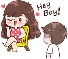 Boobib lovely couple 4 (Indo) – LINE stickers