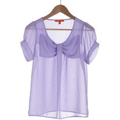 New Flame Top in Lilac ($21) ❤ liked on Polyvore featuring tops, blouses, shirts, purple, stretch blouse, transparent shirt, purple shirt, polyester shirt and sheer top