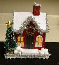 Image result for christmas putz house