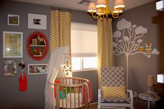 white and yellow kids room chevron curtains Chevron Pattern Craze: How to Pull It Off at Home