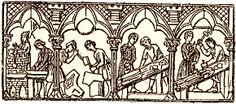Maçons et les tailleurs de pierre au Moyen âge