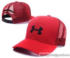#UnderArmour #Caps  Adjustable Mesh Hats Snapback Caps Red