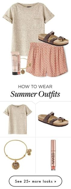 Summer Outfit by simply-grace on Polyvore featuring A.P.C., Alex and Ani, philosophy, Urban Decay and Birkenstock -> SALE bis 70% auf Fashion -> klicken