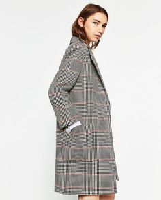 Image 3 of CHECK COAT from Zara