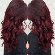 El mejor de Largo de color Rojo Oscuro Cabello Idea