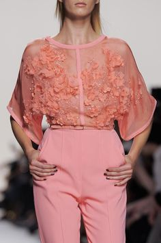 Elie Saab Details S/S '14 this outfit is just too good.