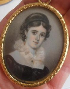 FINELY PAINTED PORTRAIT MINIATURE PRETTY YOUNG LADY Mary Jameson 1821