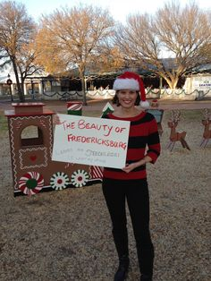 "December 5th, 2014 - KEYE hit the road for Fredericksburg as part of its ""My Hometown"" series.  We made it there for the Light the Night Christmas Parade - but I forgot one thing: my voice!  (Ha! Laryngitis!!)  My sweater - a staple every recent holiday season - is from Chaps at Kohls.  I think it's a few years old."