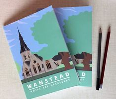 Stationery from local make murielandme. As well as invitations Bryony makes notebooks, tea towels and more featuring our churches - the perfect favour or keepsake! Party Venues, One Sided, Christening, Notebooks, Stationery, Doodles, Notes, Invitations, Stitch