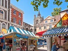 In East Anglia's medieval city you'll find daringly modern food, from insect-garnished salads to haute cuisine barbecue crisps and mammoth breakfast toasties! Norwich Market, Modern Food, Photo Corners, Market Stalls, Bbc Good Food Recipes, Best Places To Eat, Old Buildings, Medieval, Saints