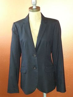 #NWOT #JCrew Super 120's #Navy #Pinstripe #Blazer 100% Wool Size 8