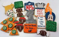 Football themed cookies | Cookie Connection