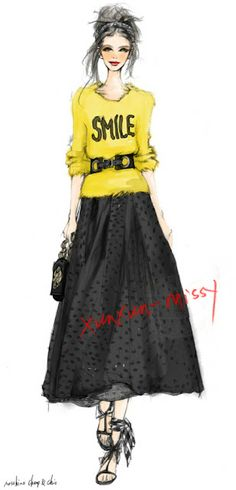 Xunxun Missy Fashion Illustrations my style... SMILE!