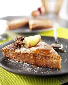 Moelleux aux pommes et sirop d'agave brun