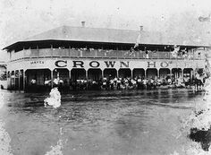 Floodwaters surround the Crown Hotel at Home Hill 1918 | Flickr - Photo Sharing!