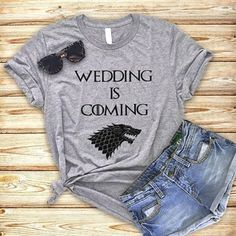 Game of Thrones Wedding Shirts, Bachelorette Shirts, Bachelorette party tank tops, He Bent the Knee, Hand of the Bride, GOT t-shirts, Personalized party shirts, Khaleesi V-neck, House Stark, Wedding…More #bachelorette #etsyclothes #etsy #tee #bacheloretteparty #bacheloretteshirt #tshirt #bachelorettegifts #etsyshirt #tees #bachelorettetshirt
