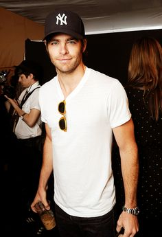 Chris Pine. That's the most casual thing I've ever seen him in.