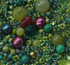 Color Inspiration, Beverly Ash Gilbert, Bead Soup Collection - lime, turquoise, teal, fuchsia / raspberry
