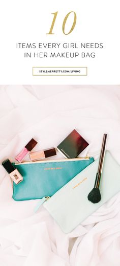 10 items every girl needs in her makeup bag! via @stylemepretty