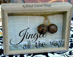 Jingle all the way shadow box; Christmas shadow box.  Alabama Slacker Mama: Crafty Christmas!