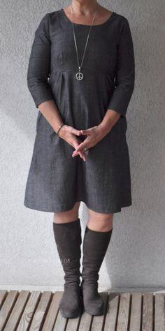 Jeans dress, #ottobre #StitchDetails #OttobreWoman