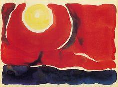 Evening Star VI (1917) by Georgia O'Keeffe