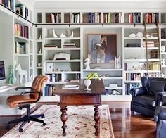 built in library bookshelves - Google Search