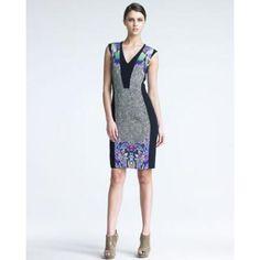 Women's Etro Mixed-Print Dress