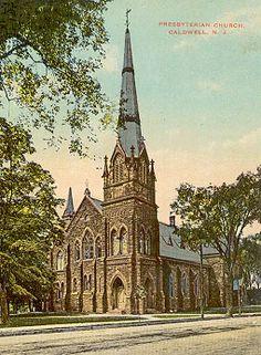 Caldwell New Jersey NJ History Photos Church circa 1905