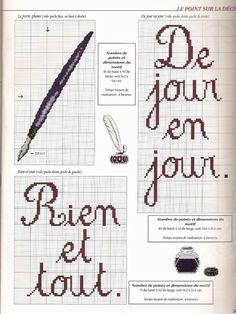 Gallery.ru / Фото #152 - для дома 2 - Fleur55555 Cross Stitch Bookmarks, Cross Stitch Books, Cross Stitch Patterns, Alphabet, Cute Embroidery, Line Art, Needlework, Bullet Journal, Album