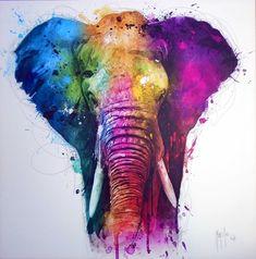 Africa Pop Canvas Art by Patrice Murciano Animal Art, Elephant Artwork, Watercolor Elephant, Art, African Art, Animal Paintings, Canvas Art, Elephant Wall Art, Pop Art