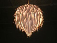 Handmade Hanging Light Shade made from paper.