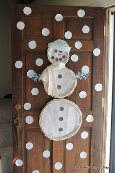 Snowman Wreath Door Art