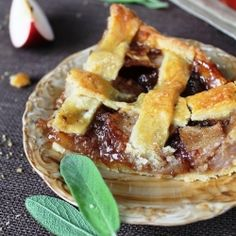 Apple Pie with Sage and Honey