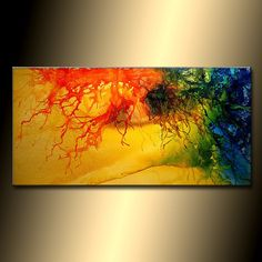 Original Abstract painting SIZE:48X24X1.58 (HIGH GLOSS FINISH) TITLE : EARTH ,WIND & FIRE MADE-TO-ORDER PAINTING - Original Contemporary Modern Abstract Painting by Henry parsinia. The painting will be similar to the one you see here, that I have already sold. The painting will be