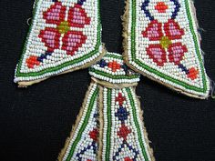 Child's tie & collar - native american antique beadwork by 120maron, via Flickr