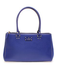 Loving this Holiday Blue Martina Wellesley Leather Tote on #zulily! #zulilyfinds