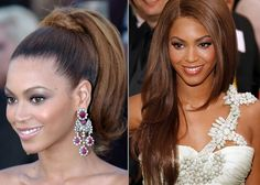 Bey-Bey...up pony for reception, down & flowy for the ceremony. Or half up half down for ceremony