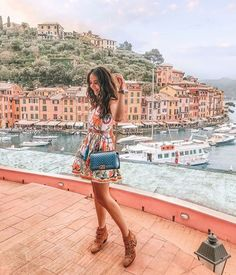 Tamara Kalinic wearing Dolce & Gabbana Maiolica print in Portofino Italy In October, Visit Italy, Italy Vacation, Spain Travel, T 4, Videos, Summer Outfits, Summer Clothes, Places To Go
