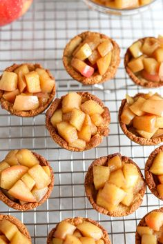 This healthy mini apple pie recipe is a deliciously easy dessert made with a homemade cookie crust. These mini pies are made with almond flour, making them both gluten-free and low carb! Caramel Apple Pie Cookies, Apple Pie Cookie Recipe, Apple Pie Recipe Easy, Homemade Apple Pie Filling, Apple Pie Recipes, Easy Cookie Recipes, Tart Recipes, Dessert Recipes, Dessert Ideas