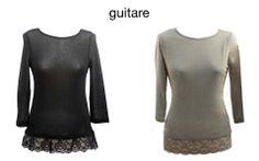 Camiseas lenceras Guitare.