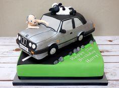 BMW car, Gollum and Shaun the Sheep - 21st birthday cake
