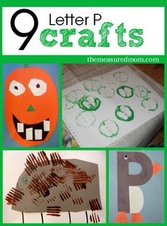 letter P crafts and art projects for preschool